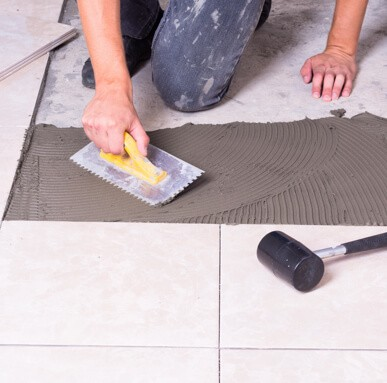 tile installation | Colonial Interiors